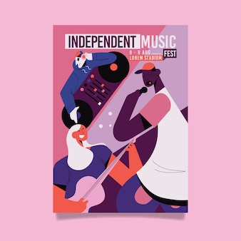 Manifesto del festival musicale illustrato