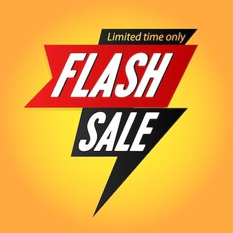 Manifesto del modello banner vendita flash