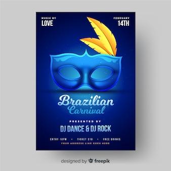 Manifesto del partito di carnevale brasiliano