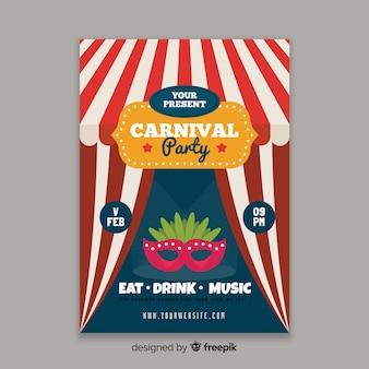 Manifesto del partito di carnevale di circo