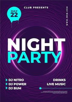 Manifesto del partito di notte disegno astratto