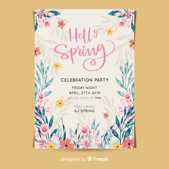 Manifesto del partito di primavera dell'acquerello
