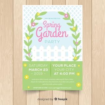 Manifesto del partito di primavera giardino