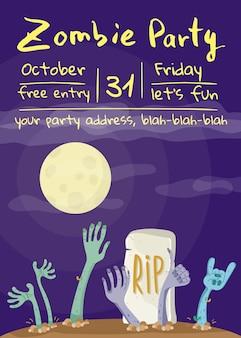 Manifesto del partito di zombie con le mani di zombie