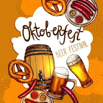 Manifesto dell'oktoberfest festival