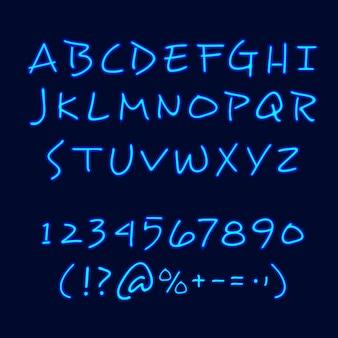 Manifesto della lavagna di stile al neon dell'iscrizione della mano