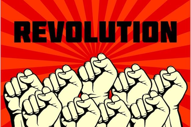 Manifesto di arte di rivoluzione vettore ribelle