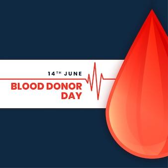 Manifesto di concetto di giorno di donatore di sangue del mondo