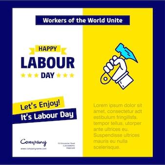 Manifesto di festa del lavoro felice