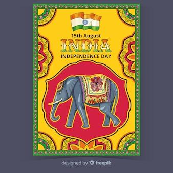 Manifesto di festa dell'indipendenza indiana decorativa