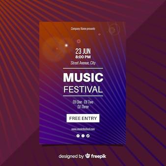 Manifesto di festival di musica di linee rette