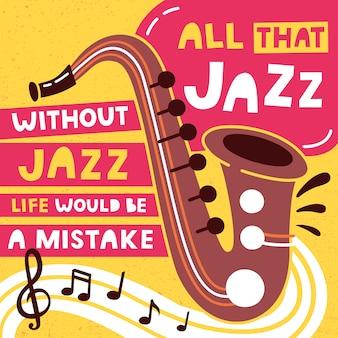 Manifesto di festival di musica jazz e modello di progettazione di banner.