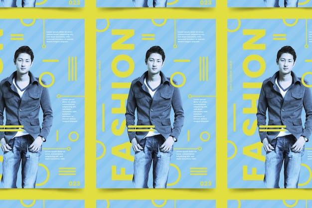 Manifesto di moda colorato con foto
