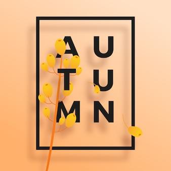 Manifesto di tipografia di testo autunno