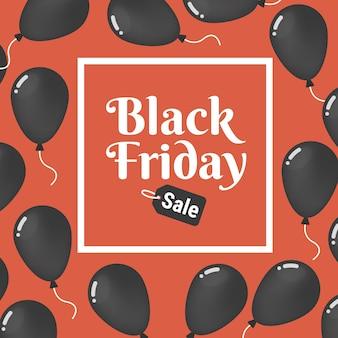 Manifesto di vendita di black friday di vettore