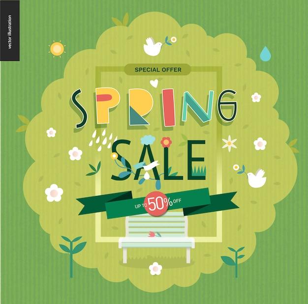 Manifesto di vendita di primavera