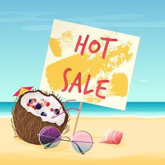 Manifesto di vendita estiva calda