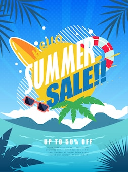 Manifesto di vendita estiva