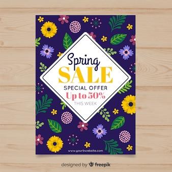 Manifesto di vendita primavera scura