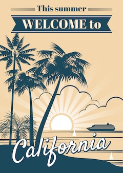 Manifesto di vettore della repubblica della california