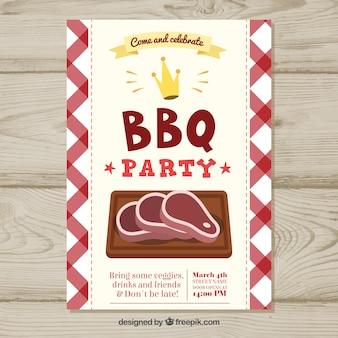 Manifesto disegnato a mano per una festa barbecue