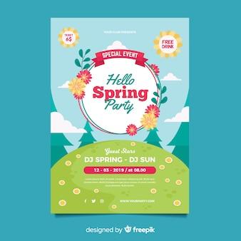 Manifesto festa di primavera floreale