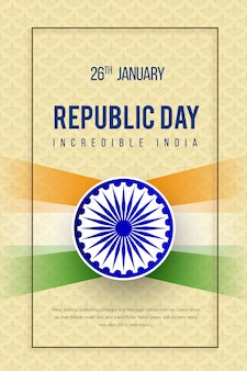 Manifesto festival indiano festa della repubblica felice