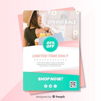 Manifesto fotografico di primavera vendita