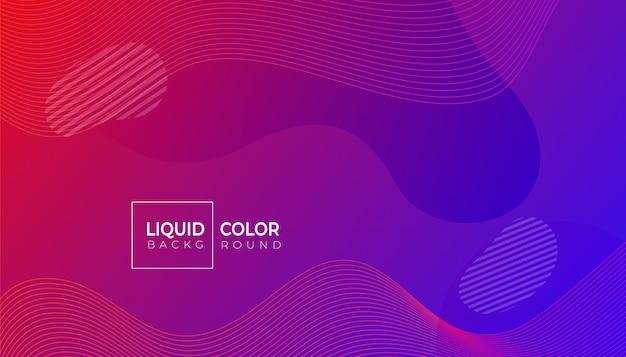 Manifesto moderno di forme geometriche astratte di colore liquido