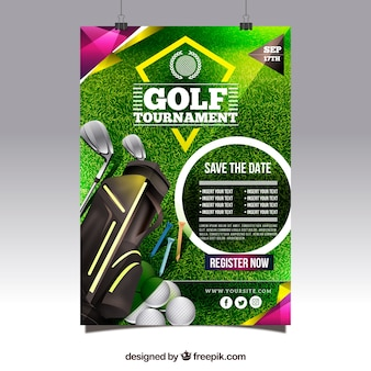 Manifesto moderno torneo di golf