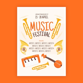 Manifesto musicale in stile illustrato