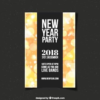 Manifesto partito nero e giallo per il nuovo anno
