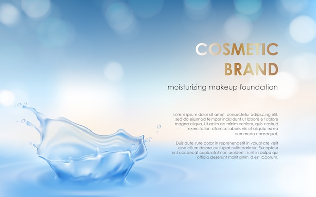Manifesto pubblicitario di un prodotto cosmetico idratante