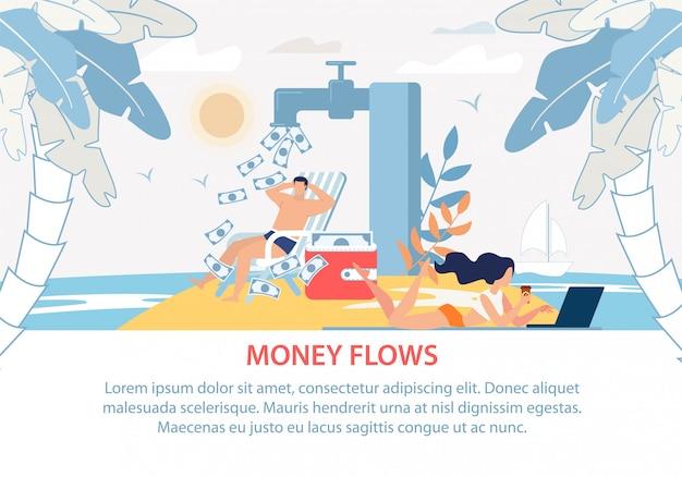 Manifesto pubblicitario reddito passivo di investimento redditizio