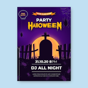 Manifesto realistico del partito di halloween