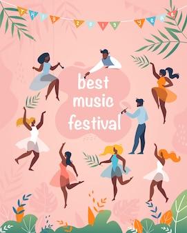 Manifesto verticale del miglior festival musicale