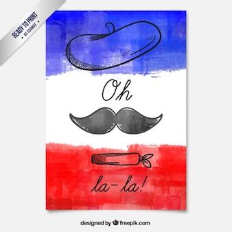 Mano carta francese dipinto
