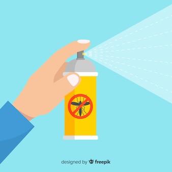 Mano che tiene spray antizanzare