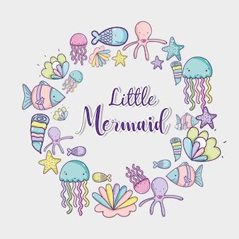 Mano di mare animale disegno cartoni animati