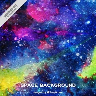 Mano dipinta di sfondo spaziale