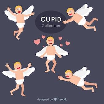Mano disegnare la collezione di angelo di san valentino
