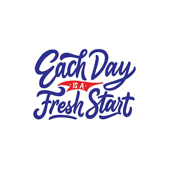 Mano lettering e tipografia cita la motivazione per la vita