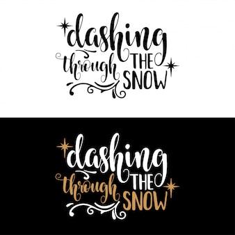 Mano lettering lettering di natale