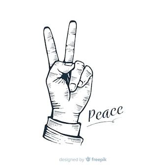 Mano, pace, segno, fondo