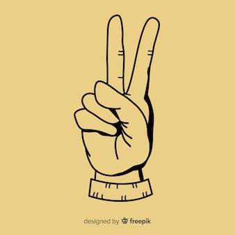 Mano segno di pace