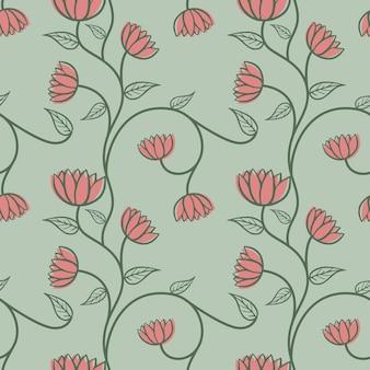 Mano senza soluzione di continuità, disegno di sfondo floreale