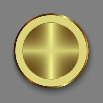 Manopola. pulsante d'oro realistico