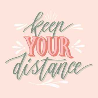 Mantieni la distanza - scritte