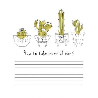 Manuale di cura della pagina cactus