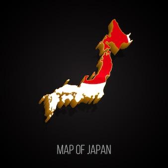 Mappa 3d del giappone